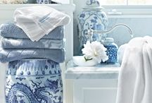Bathroom KW / Blue bathroom, preferably light blues and maybe some white or black accents