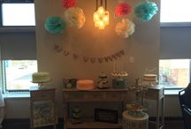 Mint and Coral Bridal Shower / Bridal Shower Decor and Dessert