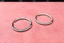 Diamond hoop earrings / #DiamondHoop #Earnings #DelicateGenFineJewelry #DiamondHoopEarrings #StudEarrings