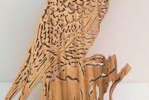 drewniany kącik / prace wykonane z drewna za pomocą wyrzynarki stołowej