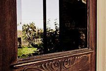 in the window, at the door...