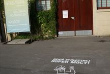 Our work - Milk Graffiti / This is our work made in eco milk graffiti technic.