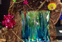 Waterfalls for VBS / Ideas/inspiration for decorating for our VBS Journey Off the Map