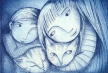 disegni bianco blu