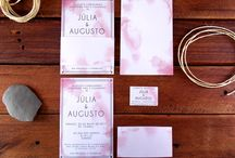 Convite Casamento Vintage Rosa Watercolor