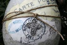 French living  / Lovely rustic french decor <3