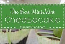 mini mints cheesecakes