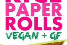 vegan rice paper rolls