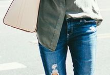 ThatLaidBackChic | Denim / Distressed jeans add edge to your style! Mix it up