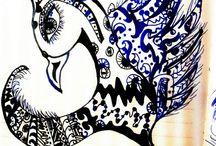doodle art / Doodle illustrasyonla birlesince ifade gucume can geldi sanki