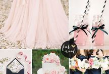 navy blue spring wedding
