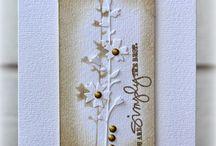 CM barvy: jednobarevná přání. Monochromatic cards. / Ukázky ke knize J. Ščerbové Cardmaking - barvy, tvary, styly. Grada Publishing 2016.