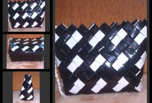 kozmetické tašky so širokým dnom / papier