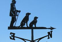 Weathervanes - Dog & Cat / Handmade, bespoke, quality weathervanes with dog and cat designs as the main theme.