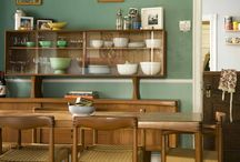 Teal Green Dining Room