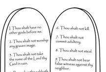Bible story crafts Ten Commandments