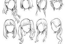 A.Cheveux dessins