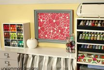 Studio Organization/Inspiration / Ideas for craft room or studio design and organization. / by Helene