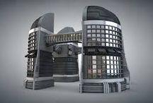 futuristic objects