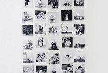 muurdecoratie met foto's