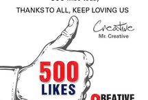 Crossed 500 Likes today on Facebook / I am happy to share that we have crossed 500 likes today.  Thanks to all and Keep Loving Us!!!1