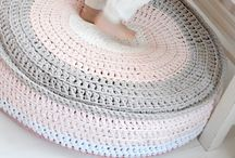 crocheted pouff