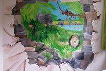 muurschilderingen / door mij gemaakte schilderingen