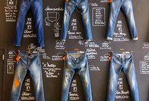 Denim display board