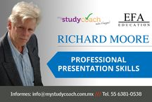 Course - Professional Presentation Skills / Are your presentation skills a bit rusty?  In cooperation with MyStudyCoach we offer you the opportunity brush up on your presentation skills. Communication expert Richard Moore's workshop is on August 6 and 7 on Miguel Angel de Quevedo Col. Chimalistac. You are invited! You can book via the link below. Price for EFA students is only $2300MXN!  Decide fast! Only limited places available!
