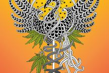 My Hemp - Cannabis Illustrations / These designs feature hemp leaves and were created for a small Vermont company called Benevolence Bound which advocates for the industrial use of hemp in the US, the only industrialized country which does not recognize hemp as different from marijuana. Hence, a plant which could be used for paper, food, oil, cloth, rope and hundreds of other things... is one we have to import.