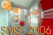 """SMS-2006 / IL SATELLITE DUE S.a.s. """"SMS - Ristrutturazione dei locali; adeguamento funzionale ed impiantistico; allestimento ed arredo per un esercizio commerciale di telefonia e piccola elettronica"""". Progetto di massima ed esecutivo; Direzione Lavori.  Progetto e modellazione 3D. (Venosa, PZ. Dicembre 2006)"""