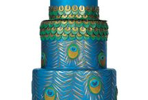 Wedding peacock cakes