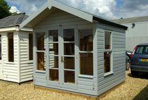 Farrow & Ball Paints / Our range of garden buildings finished in Farrow & Ball's  exterior paint range #farrowandball