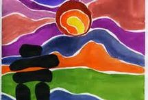 Indigenous water color ted Harrison