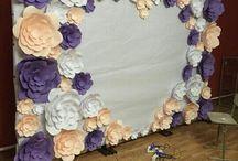 parede de flor