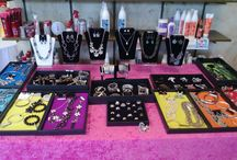 Premier Designs Jewelry Displays / My personal Premier Designs jewelry displays at shows and vendor events. #premierdesigns #pddisplays #pdstyle