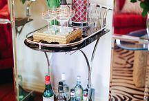 Bar Carts Inspiration / Dress up your bar