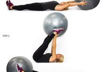 Stability ball workouts / by Danielle Schipper