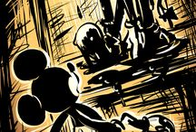 Bendy and The Ink Machine and Mickey Mouse
