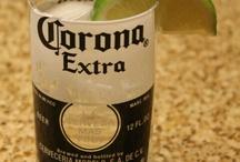 drikkeglass av flasker