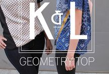 Geometry Top / The second pattern from Katy & Laney Patterns is a loose fitting top with fun style lines which allow for endless fabric and color-blocking combinations!