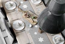 Tischdekoration Weihnachten / Mit dem Tischläufer Stern  wird es ganz schnell weihnachtlich. Styling / Fotografie Tanja Marx