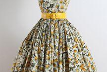 Dresses of 50's