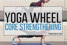 yoga with yoga wheel