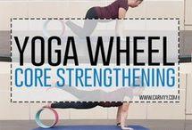yoga with yoga wheel