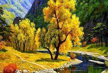 árboles floridos