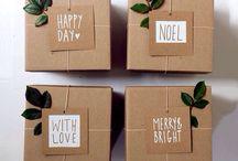 Emballages cadeaux / Des emballages cadeaux originaux pour toutes les occasions !