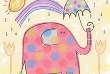 Elefante con Paraguas