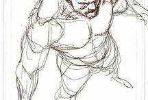 man body sketch