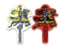 Knights / School Spirit Store offers thousands of great Custom Mascot ideas with your school/team name/logo and in your colors!!. Great Knight Shaped Keytags, Pencils, Magnets, Cheer Sticks and Mitts and  Beanies too! Visit us www.schoolspiritstore.com for more information.  Go Knights!
